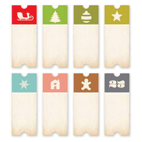 Chic Tags - Christmas - 25 Days Tickets - Set of 8
