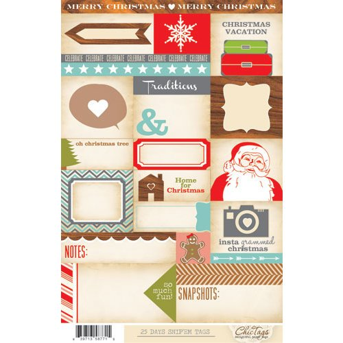 Chic Tags - Snip 'em Tags - Christmas - 25 Days Journaling Tags