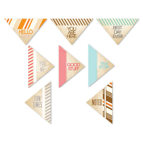 Chic Tags - Autumn Days Triangles - Set of 8