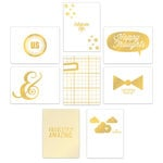 Chic Tags - Cloud 9 Collection - Cards with Foil Accents - Gold