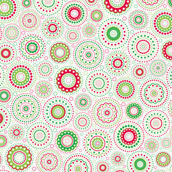 Doodlebug Design - Patterned Paper - Christmas Collection - Kaleidoscope