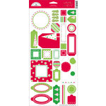Doodlebug Designs - Whimsy Wafers - Self-Adhesive Chipboard - Christmas Collection, CLEARANCE