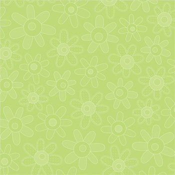 Doodlebug Design - Easter Collection - 12x12 Paper - Limeade Blossoms