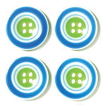 Doodlebug Designs - Striped Buttons - Seabreeze, CLEARANCE
