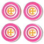 Doodlebug Designs - Striped Buttons - Raspberry Sunrise, CLEARANCE