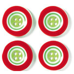 Doodlebug Designs - Striped Buttons - Christmas Collection, CLEARANCE