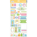 Doodlebug Designs - Easter Collection - Cardstock Stickers - Tags and Tabs, CLEARANCE