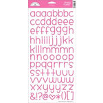 Doodlebug Design - Alphabet Cardstock Stickers - Simply Sweet - Bubblegum