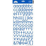 Doodlebug Design - Alphabet Cardstock Stickers - Simply Sweet - Blue Jean