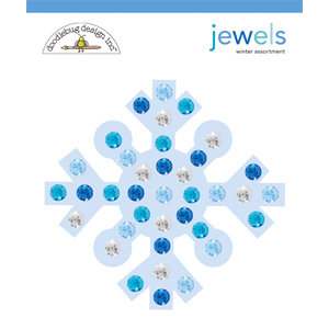Doodlebug Design - Cold Spell Winter Collection - Jewels - Winter Assortment, CLEARANCE