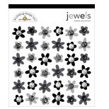 Doodlebug Designs - Jewel Assortments - Tuxedo Assortment, CLEARANCE