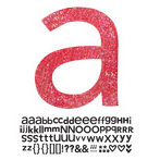 Doodlebug Design - Sugar Coated - Adhesive Chipboard Alphabet - Hopscotch Font - Ladybug, CLEARANCE