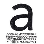 Doodlebug Design - Sugar Coated - Adhesive Chipboard Alphabet - Hopscotch Font - Beetle Black