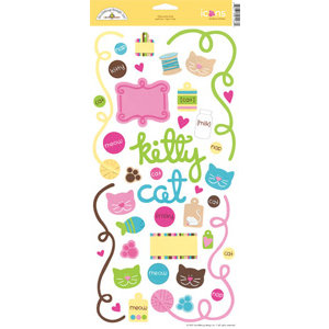 Doodlebug Design - Pretty Kitty Cat Collection - Cardstock Stickers - Pretty Kitty
