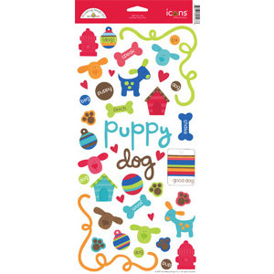 Doodlebug Design - Bow Wow Dog Collection - Cardstock Stickers - Bow Wow