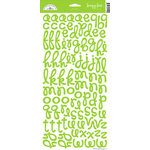 Doodlebug Design - Loopy Lou Alphabet Cardstock Stickers - Limeade