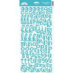 Doodlebug Design - Loopy Lou Alphabet Cardstock Stickers - Swimming Pool