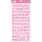 Doodlebug Designs - Alphabet Cardstock Stickers - Hopscotch Font - Bubblegum, CLEARANCE