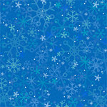 Doodlebug Design - Cold Spell Winter Collection - 12x12 Paper - Blizzard