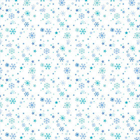 Doodlebug Design - Cold Spell Winter Collection - 12x12 Paper - Flurry