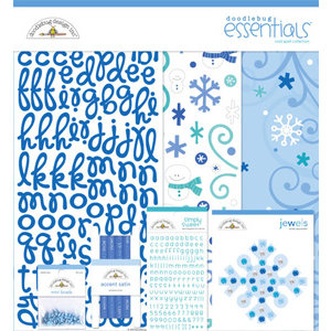 Doodlebug Design - Cold Spell Winter Collection - 12x12 Essentials Kit - Cold Spell
