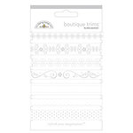 Doodlebug Designs - Boutique Trims - Assorted Ribbon - Lily White