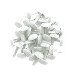 Doodlebug Design - Crushed Velvet Brads - Lily White