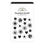 Doodlebug Designs - Boutique Brads - Assorted Brads - Beetle Black, CLEARANCE