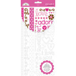 Doodlebug Designs - Stick With It - Double Sided Adhesive Transfers - Sweet Love