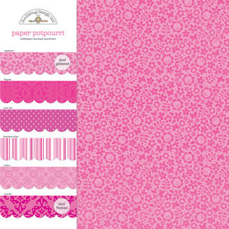 Doodlebug Design - Potpourri - 12 x 12 Paper Assortment - Bubblegum, CLEARANCE
