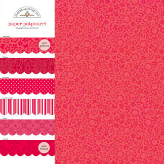 Doodlebug Design - Potpourri - 12 x 12 Paper Assortment - Ladybug