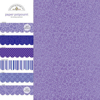 Doodlebug Design - Potpourri - 12 x 12 Paper Assortment - Lilac