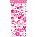 Doodlebug Design - True Love Collection - Valentines - Sugar Coated Cardstock Stickers