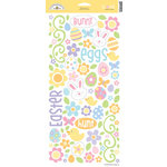 Doodlebug Design - Bunny Hop Collection - Easter - Sugar Coated Cardstock Stickers