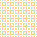 Doodlebug Design - Bunny Hop Collection - Easter - 12 x 12 Accent Paper - Easter Argyle
