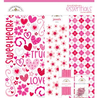 Doodlebug Design - True Love Collection - Valentines - Essentials Kit