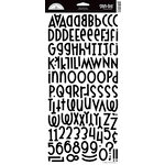 Doodlebug Design - Shin Dig - Glitter Alphabet Stickers - Beetle Black, CLEARANCE
