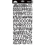 Doodlebug Design - Shin-Dig Collection - Flocked Velvet Coated Alphabet Cardstock Stickers - Beetle Black, CLEARANCE