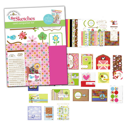 Doodlebug Design - Paper Crafts Go to Sketches - Card Companion Kit, CLEARANCE
