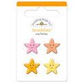 Doodlebug Design - Seaside Collection - Sugar Coated - Brads - Starfishies Braddies, CLEARANCE