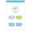 Doodlebug Design - Seaside Collection - Sugar Coated - Brads - Fishies Braddies, CLEARANCE