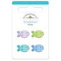 Doodlebug Design - Seaside Collection - Sugar Coated - Brads - Fishies Braddies, CLEARANCE