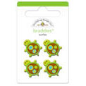 Doodlebug Design - Key Lime Collection - Brads - Turtles Braddies, CLEARANCE