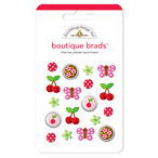 Doodlebug Design - Boutique Brads - Assorted Brads - Cherries Jubilee, CLEARANCE