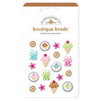 Doodlebug Design - Boutique Brads - Assorted Brads - Sweet Treat, CLEARANCE