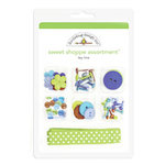 Doodlebug Design - Key Lime Collection - Sweet Shoppe Assortment - Key Lime , CLEARANCE