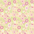 Doodlebug Design - Strawberry Parfait Collection - 12 x 12 Accent Paper - Strawberry Blossoms