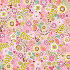 Doodlebug Design - Tutti Fruitti Collection - 12 x 12 Accent Paper - Tutti Fruitti Floral