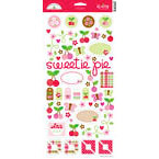 Doodlebug Design - Cherries Jubilee Collection - Sugar Coated Cardstock Stickers - Icons, CLEARANCE
