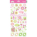 Doodlebug Design - Strawberry Parfait Collection - Sugar Coated Cardstock Stickers - Icons, CLEARANCE